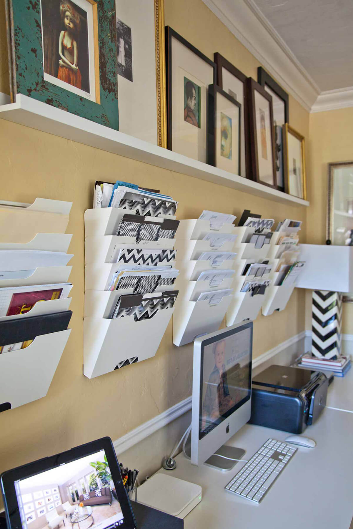 Space Saving Wall Mounted Filing System