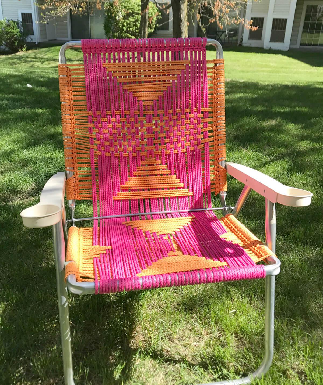 Decorative Macrame Lawn Chair Renovation