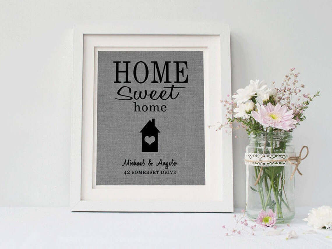 Custom Home Print for Mantle Decoration