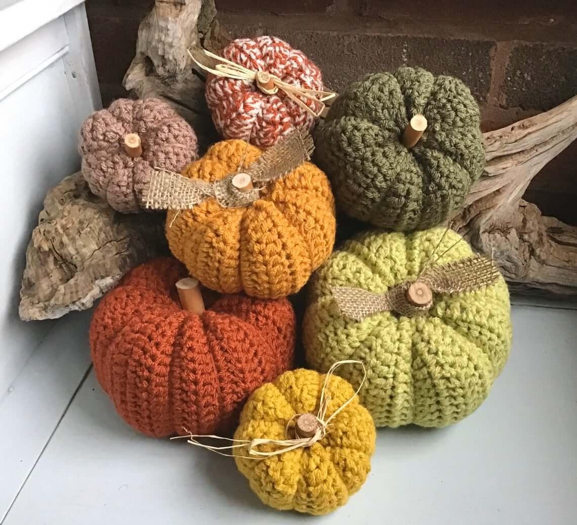 Great Grandma Inspired Crocheted Pumpkin Decorations