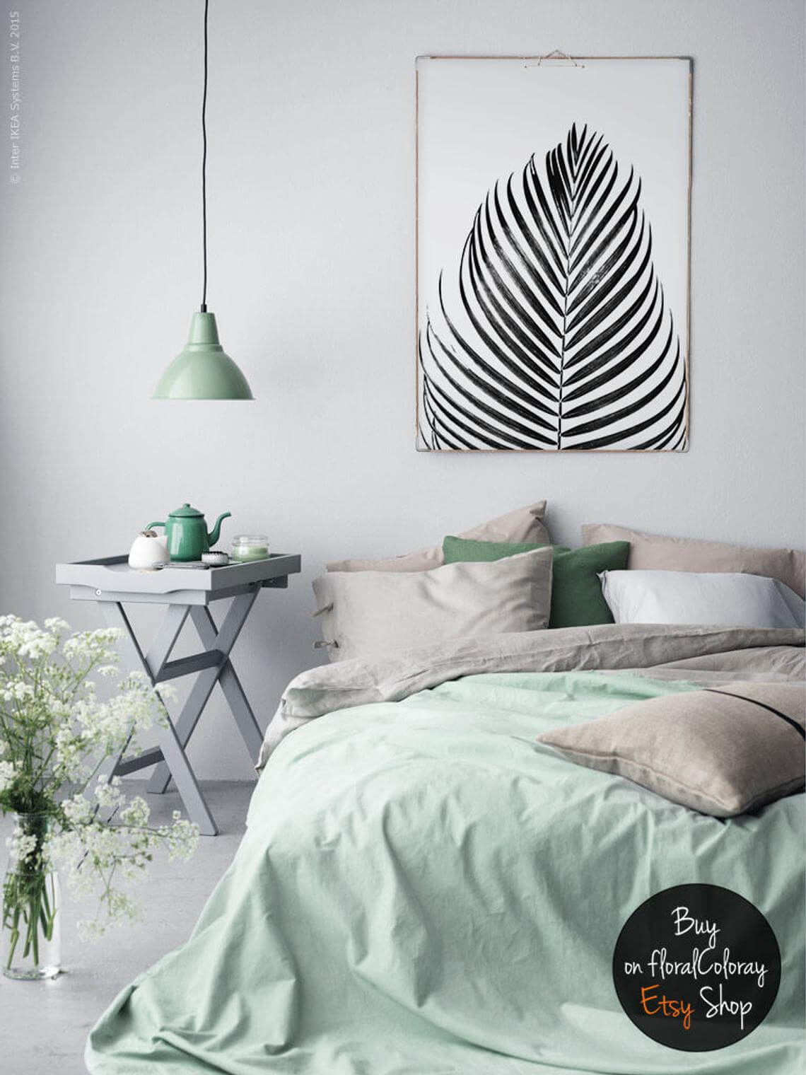 Comfortable and Chill Mint Green Duvet