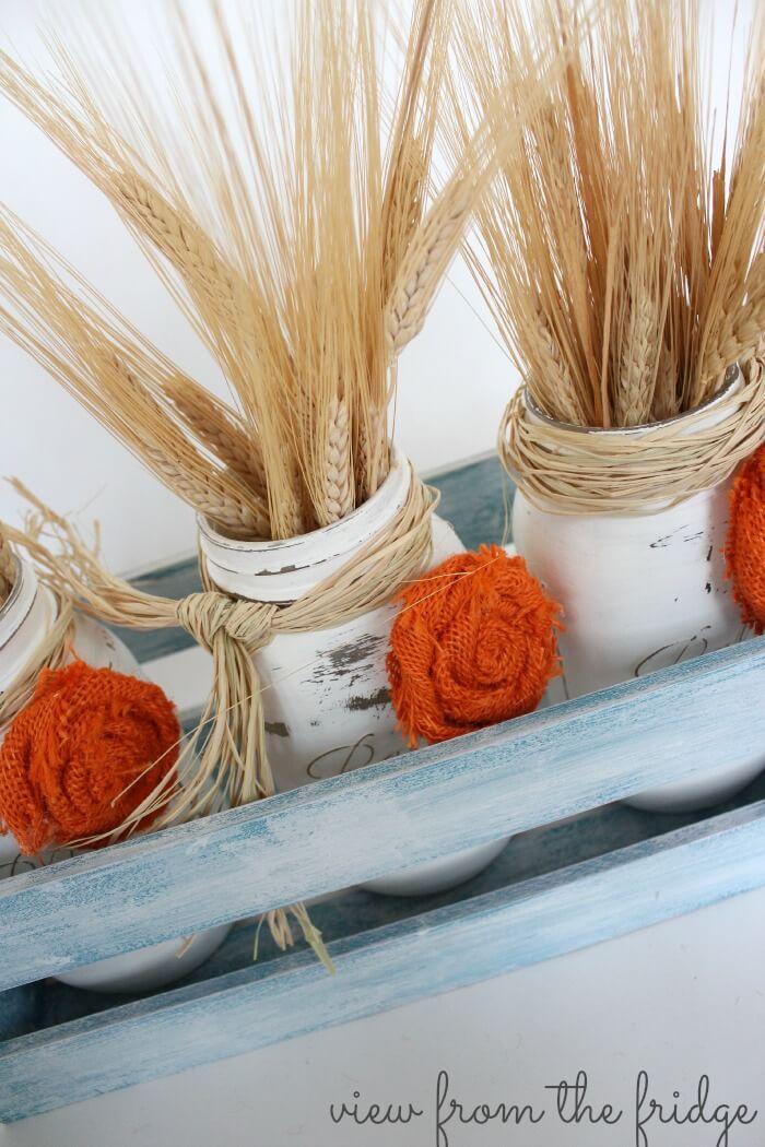 Simple and Sweet Mason Jar Vase