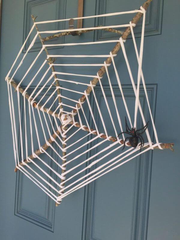A Spider's Web Halloween Wreath