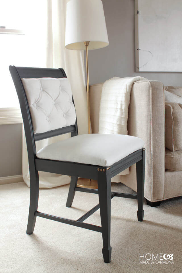 Fabulous Black and White Chair Transformation