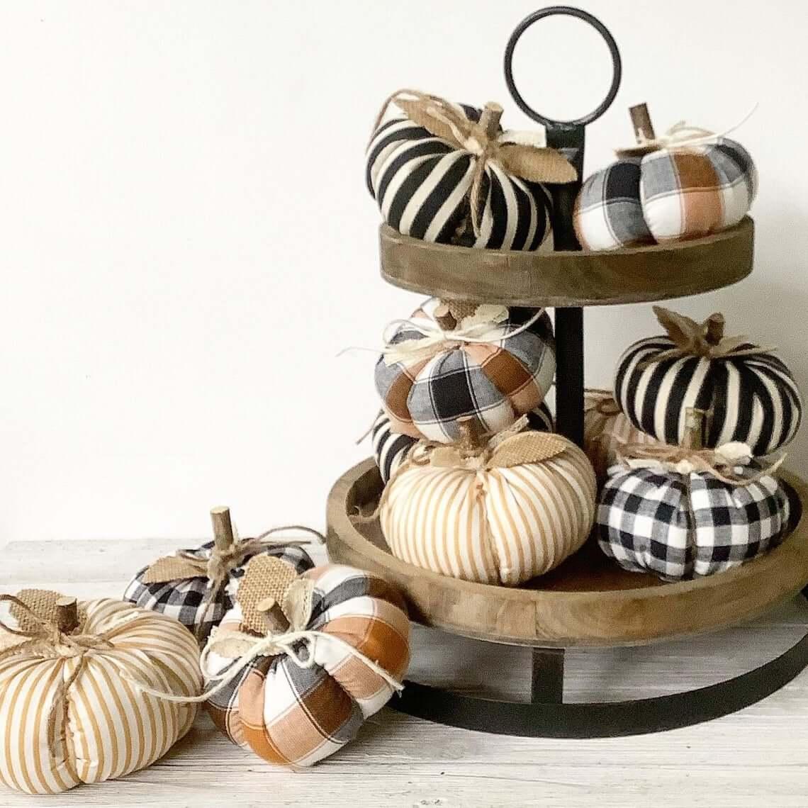 Black, White, and Butterscotch Pumpkins