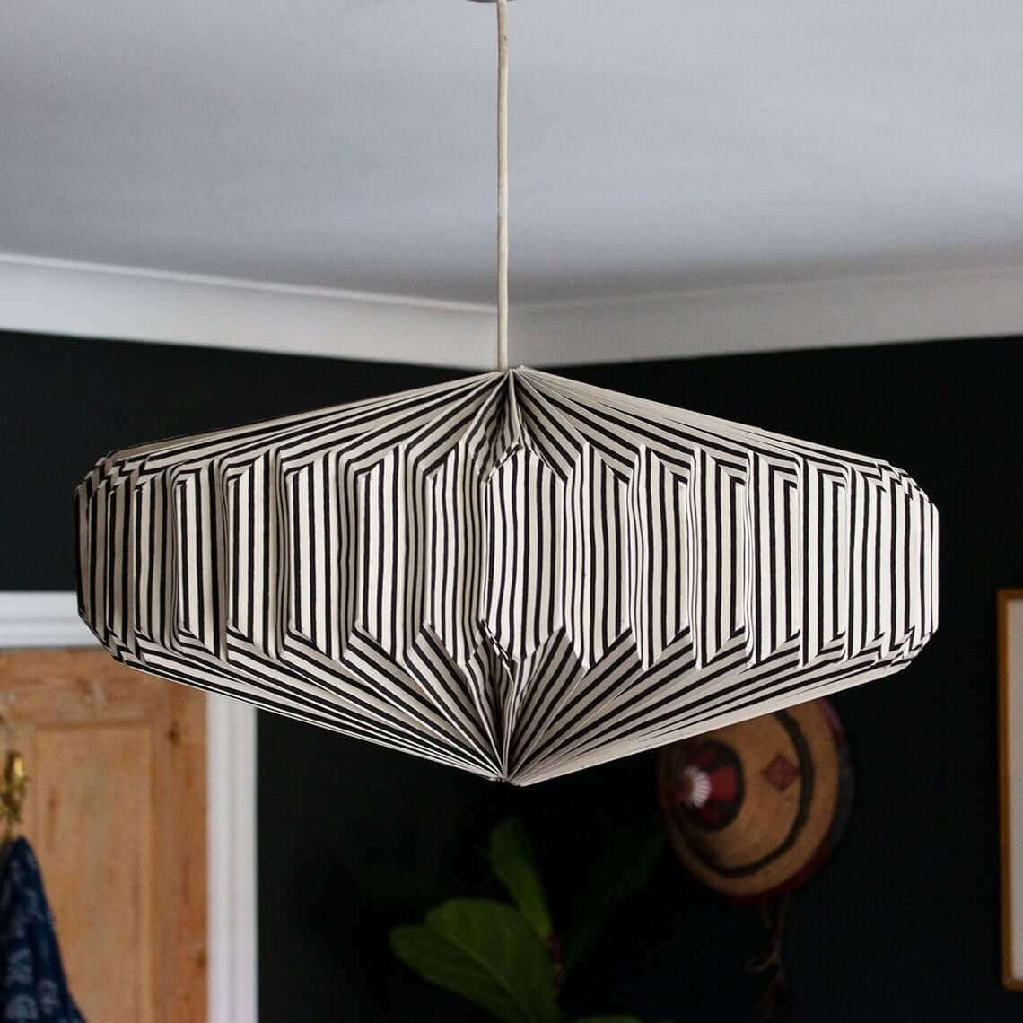 Deco-Styled Black and White Lamp Shade