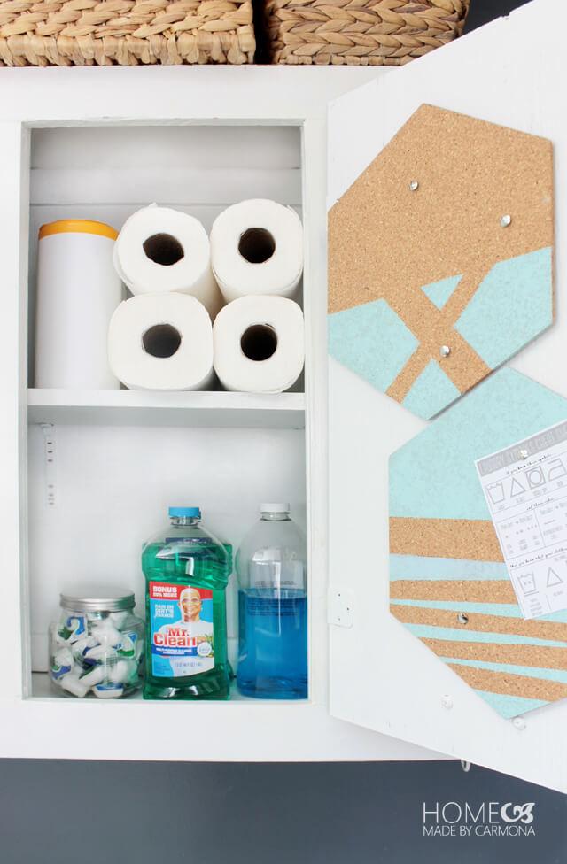 Creative Cabinet-Installed Cork Boards