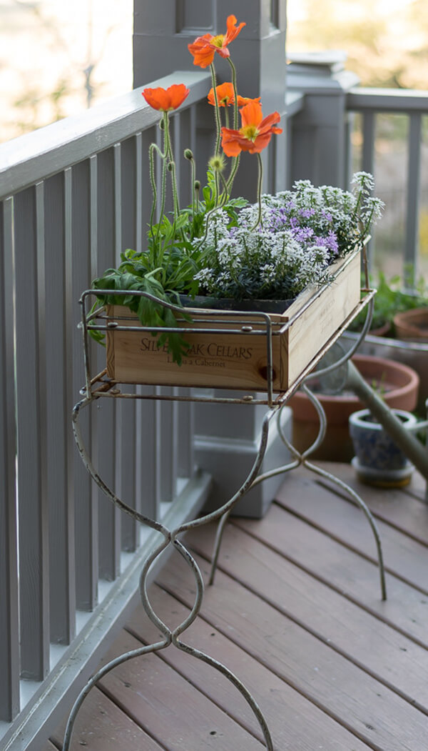 Wired Plant Box Front Porch Stand