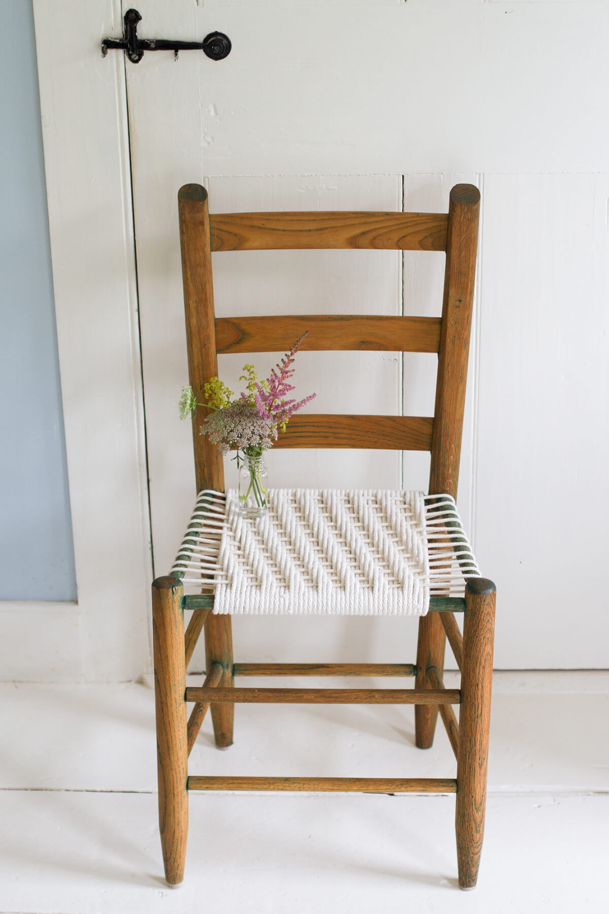 Patterned Cotton Weaved Renovated Chair