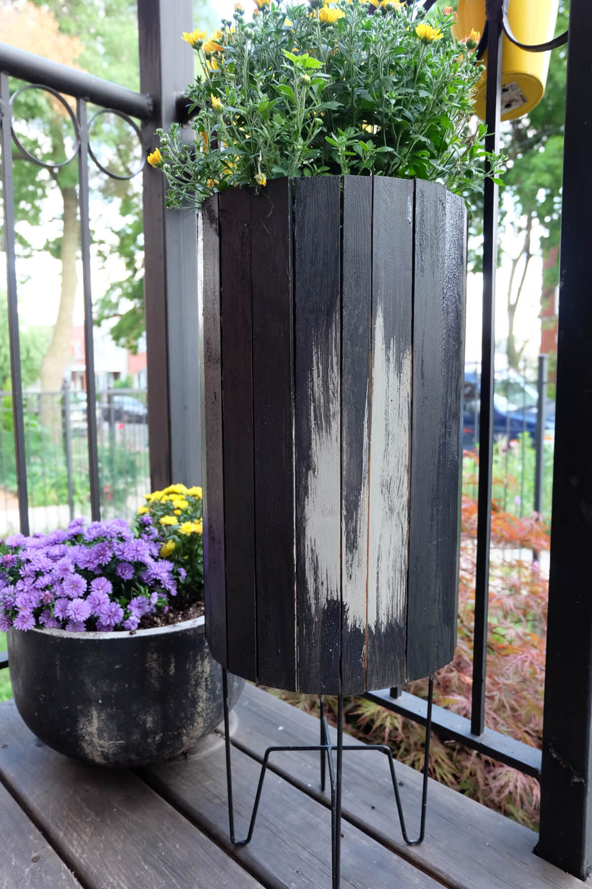 Large Distressed and Repurposed Wooden Planter