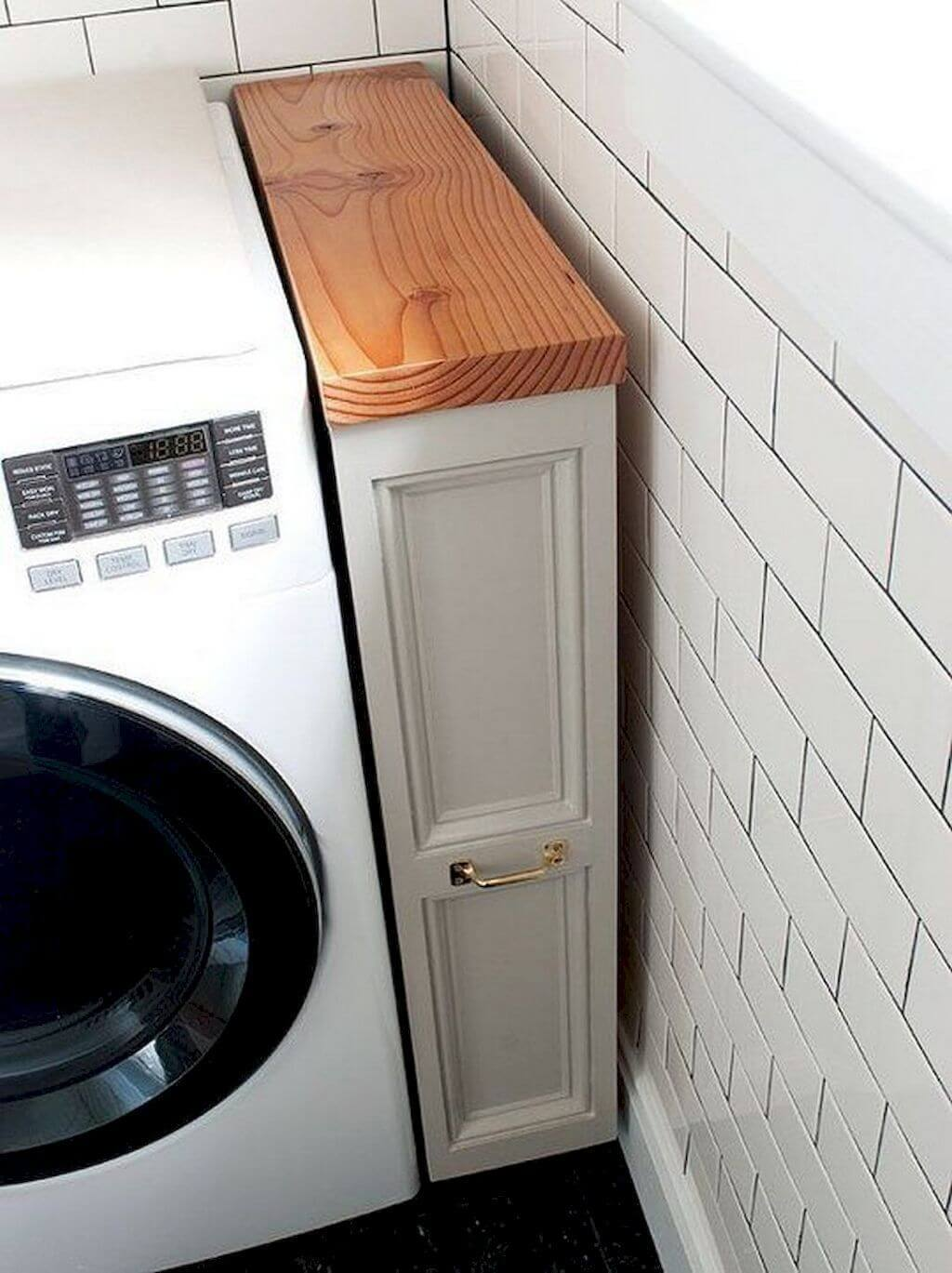 Close the Gap with a Small Vertical Cabinet