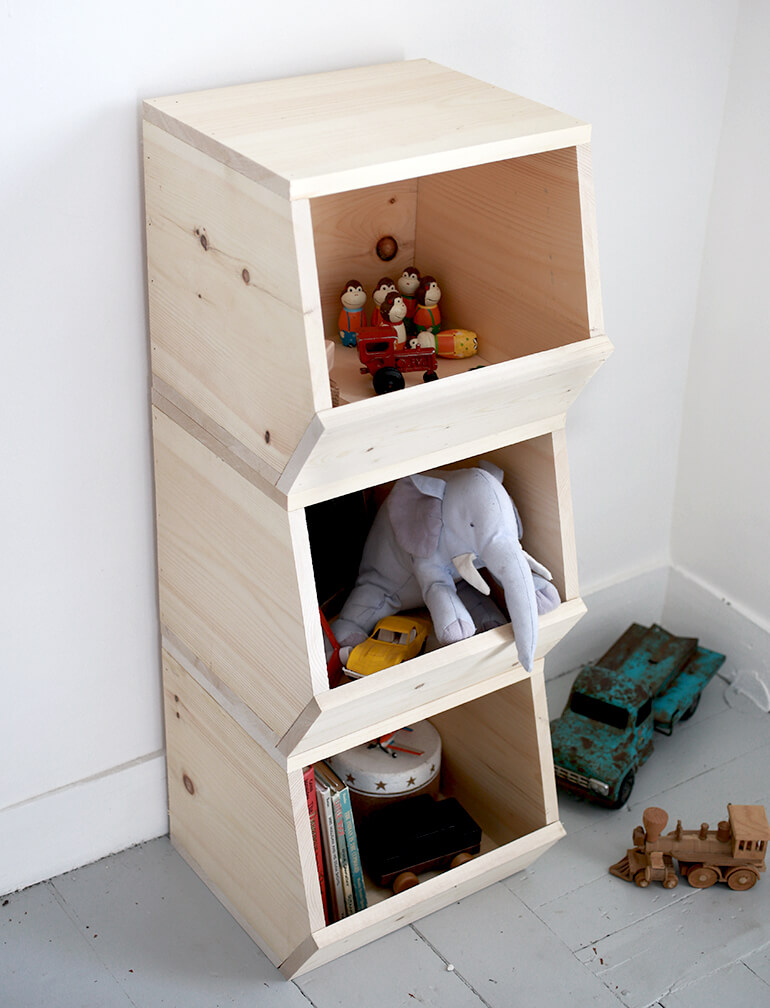 Wooden Stuffed Animal and Toy Storage Bin