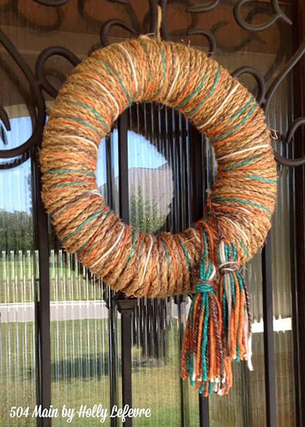 Spinning Quite a Yarn Wreath