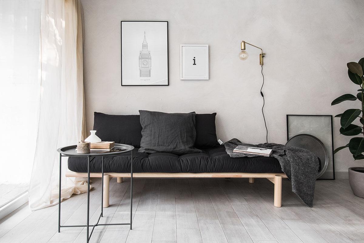 Industrial Minimalist Living Room/Bedroom Combo