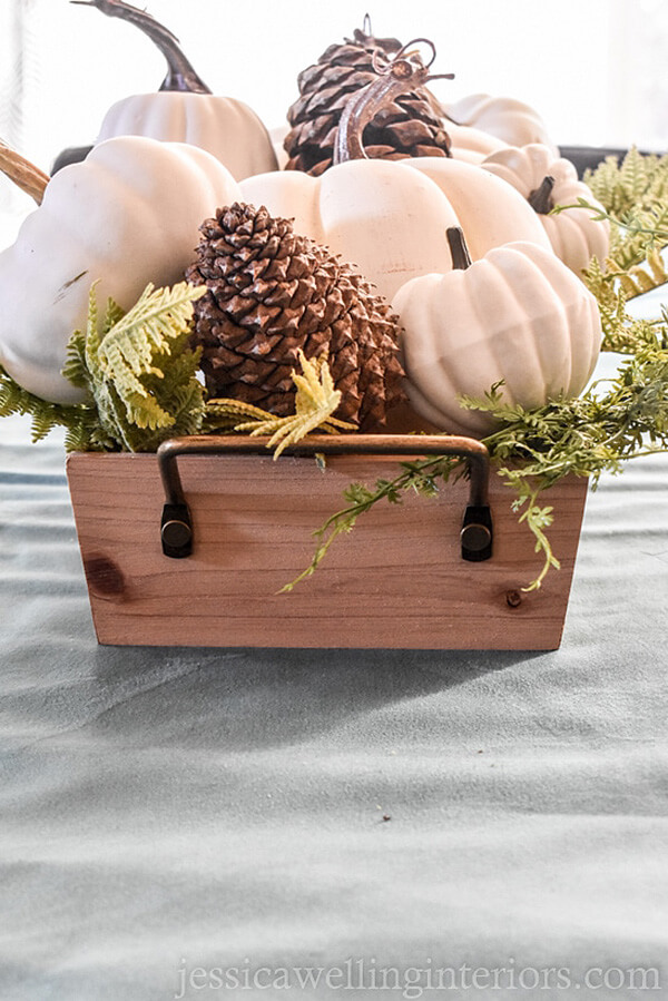 Overflowing with Pinecones, Pumpkins, and Ferns