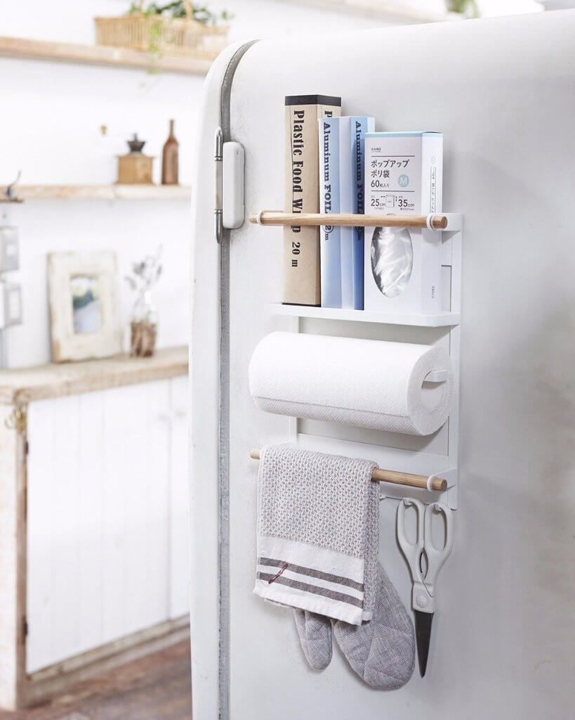 Magnetic Kitchen Organizer with Paper Towel Holder