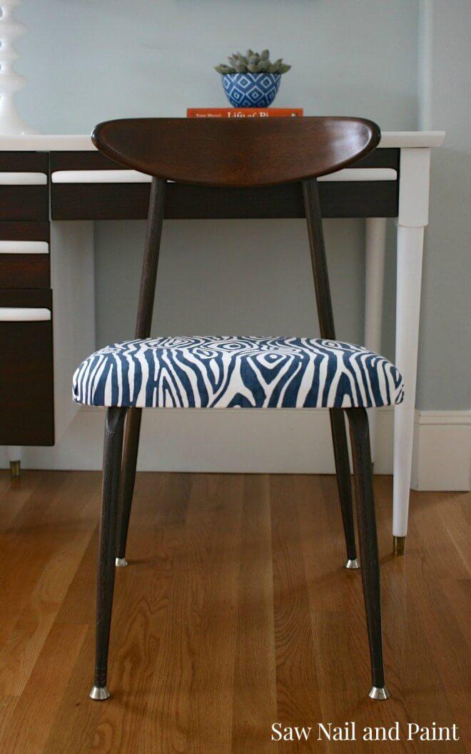 Finished Patterned Desk Chair Design