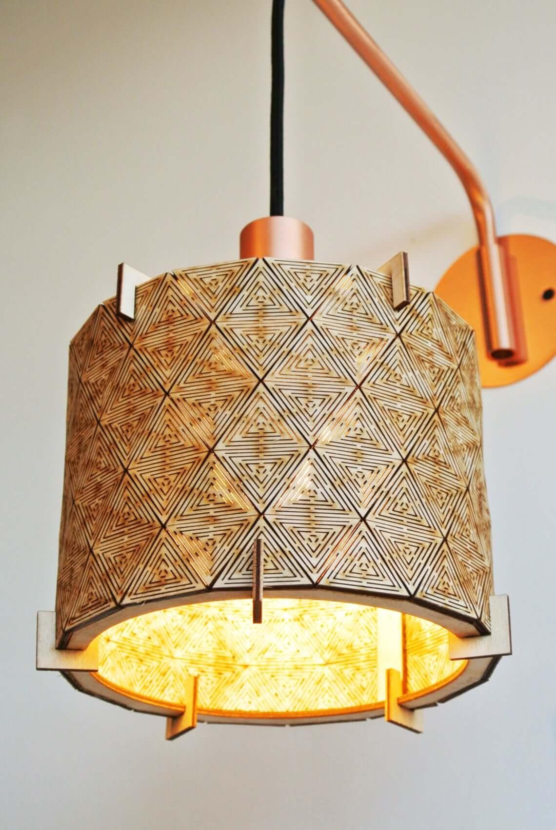 Geometric Laser Cut Lamp Shade