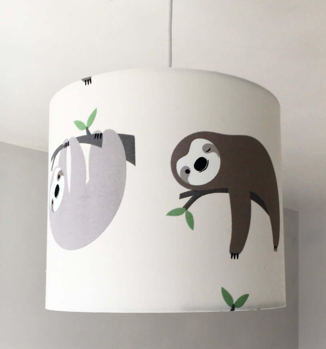 Adorable Cartoon Sloth Lamp Shade