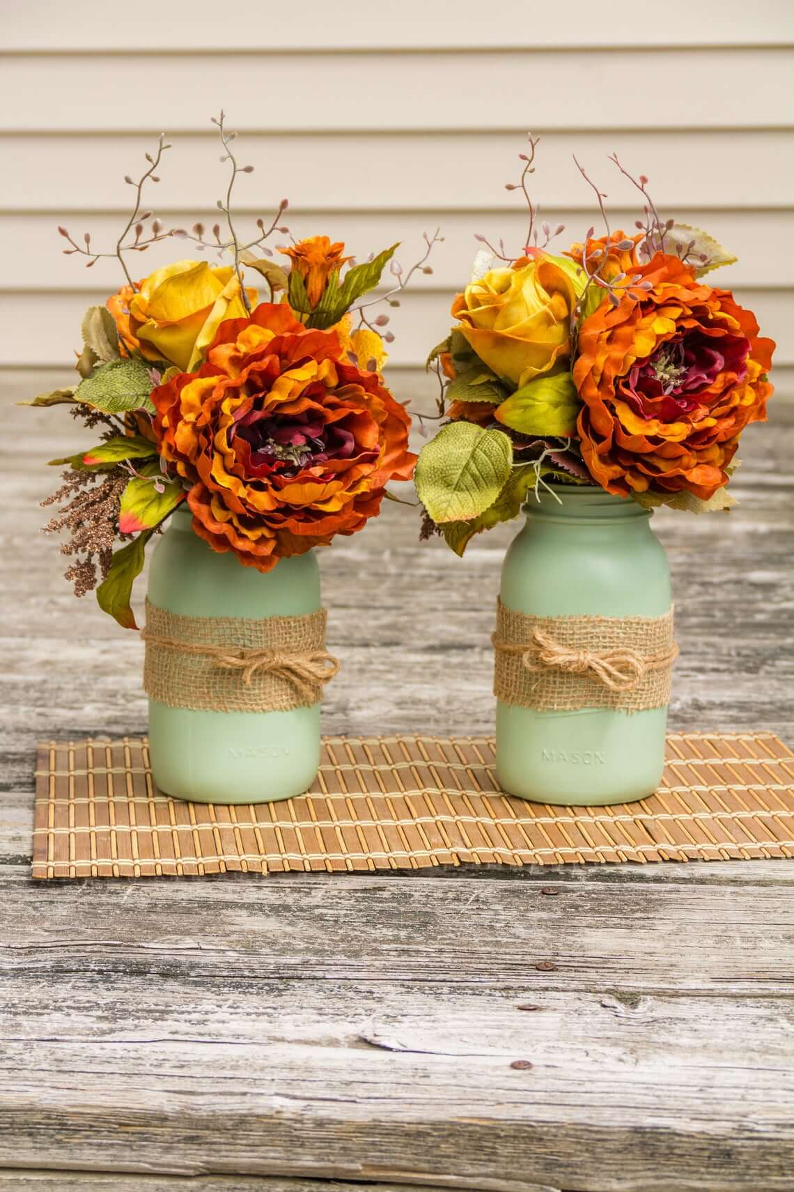 Endless Summer Bouquet in Painted Jar Vase
