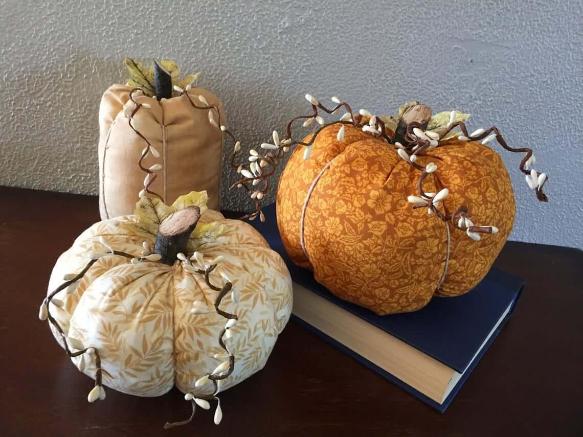 Primitive and Pretty Plump or Thin Pumpkins