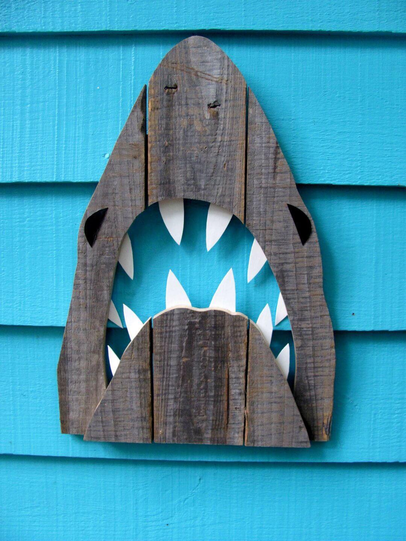 Wooden Pallet Shark's Head Cutout
