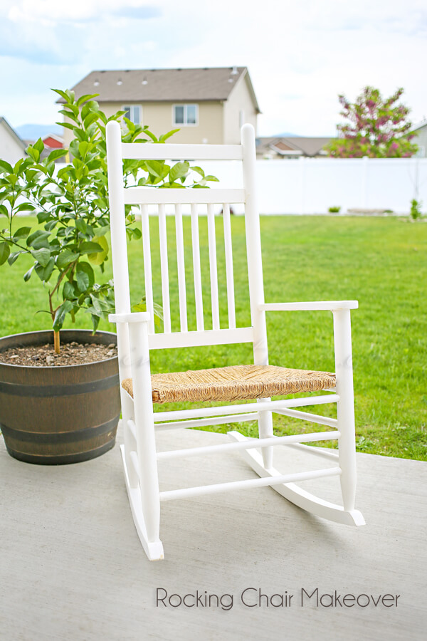 Chalk Painted Beach-Themed Rocking Chair