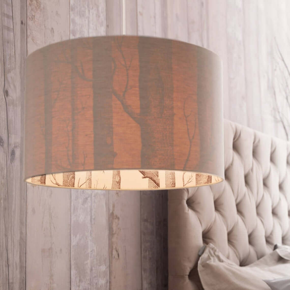 The Woods Silhouette Lamp Shade