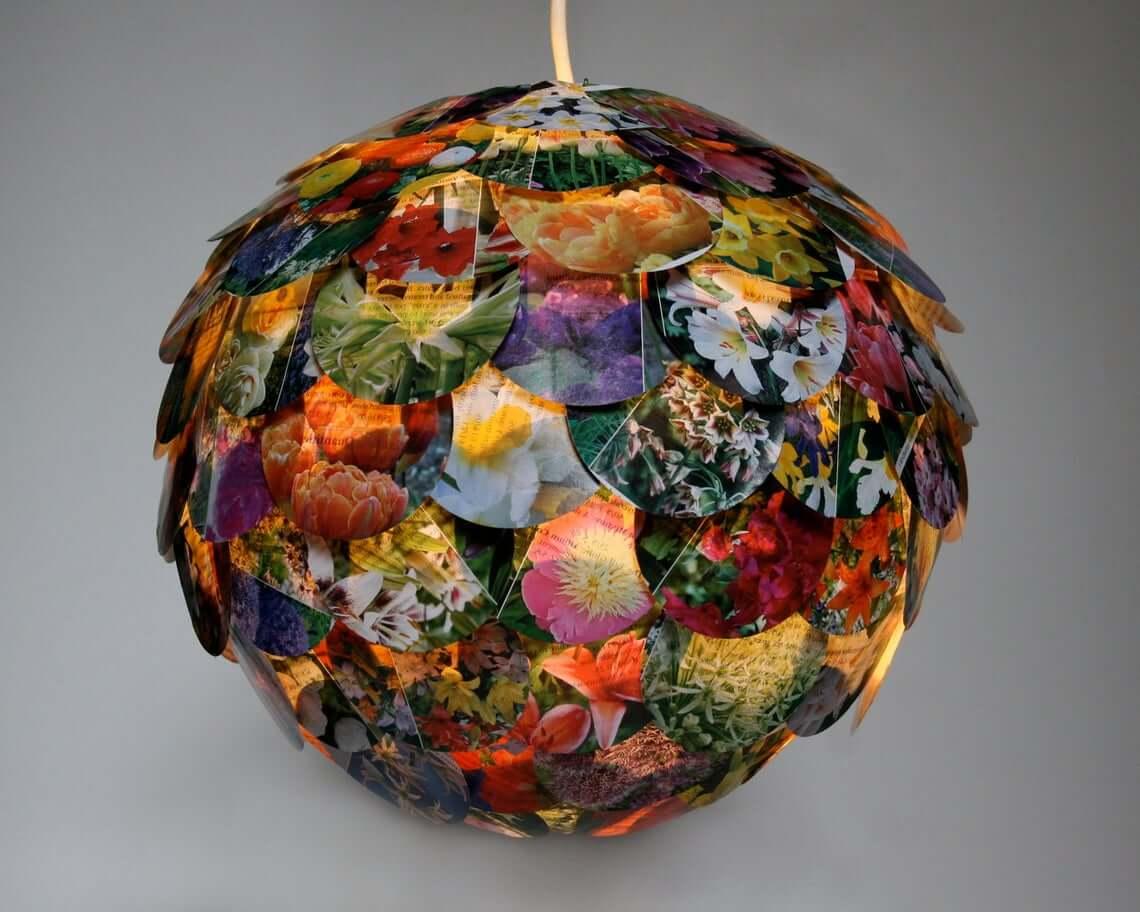 Artichoke Mixed Floral Lamp Shade