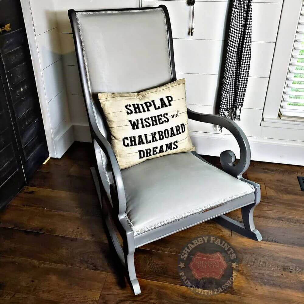 Paint Cover Upholstered Fabric Rocking Chair