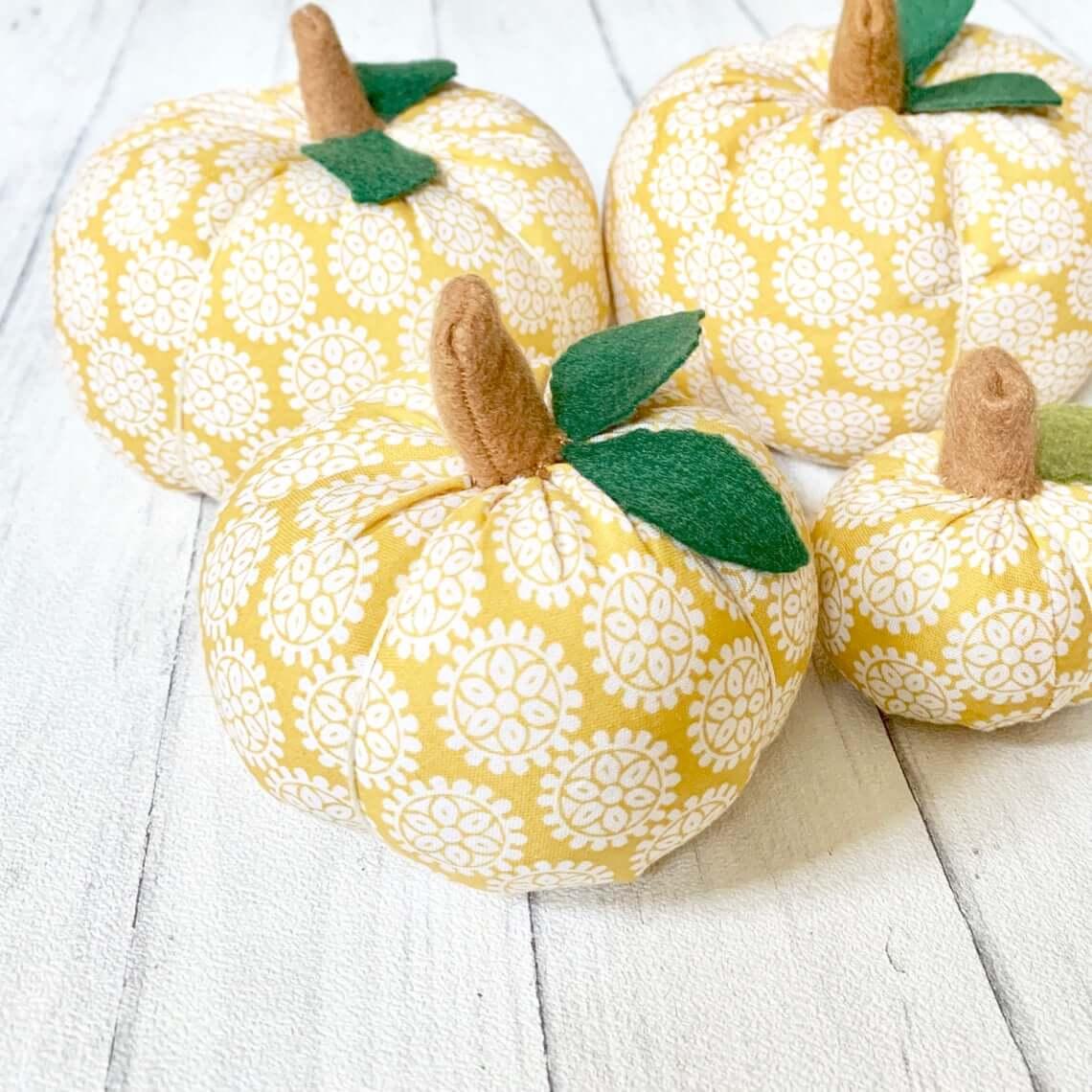 Circles and Flowers Fall Mustard Crafty Pumpkins