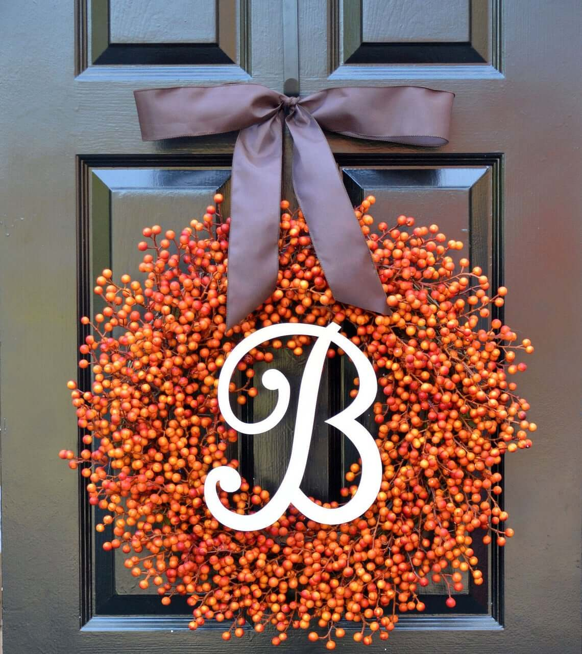 B for Berry Wreath
