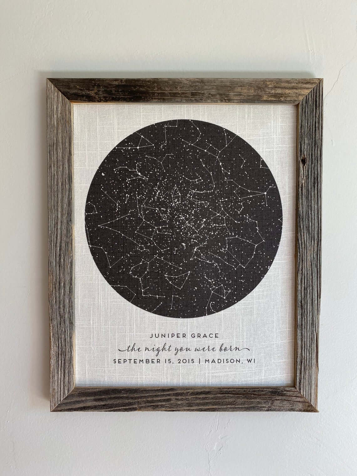 Unique Night Sky Picture for Nursery Decor