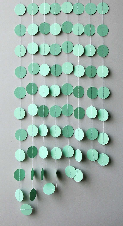 Rain Drops Mint Green Wall Mobile