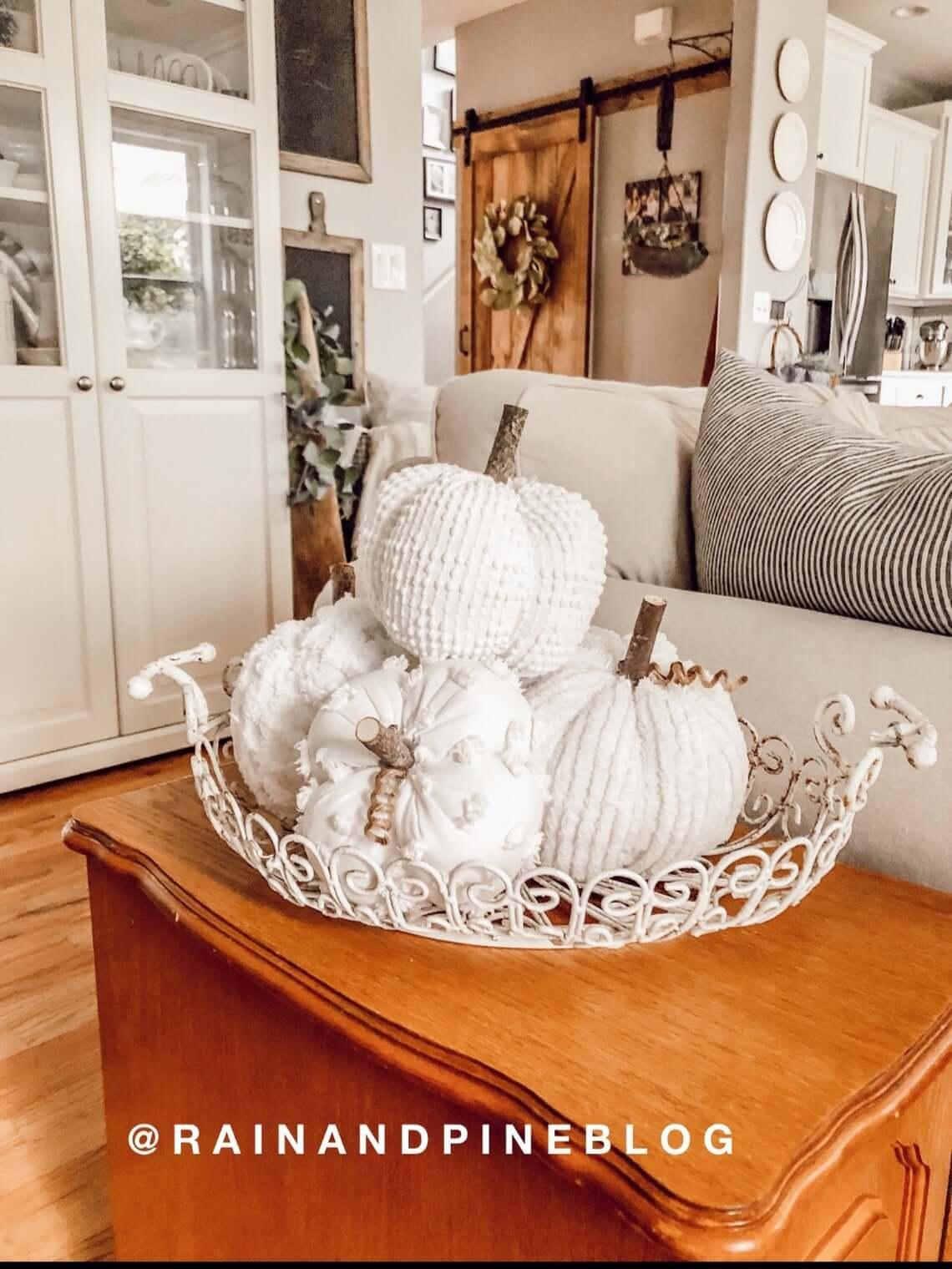 Charming Chenille Companions Set of Pumpkins