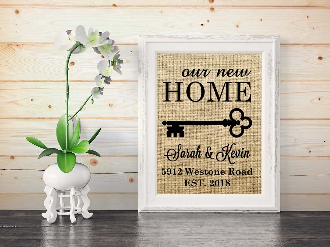 Rustic Burlap Print for Home Decor
