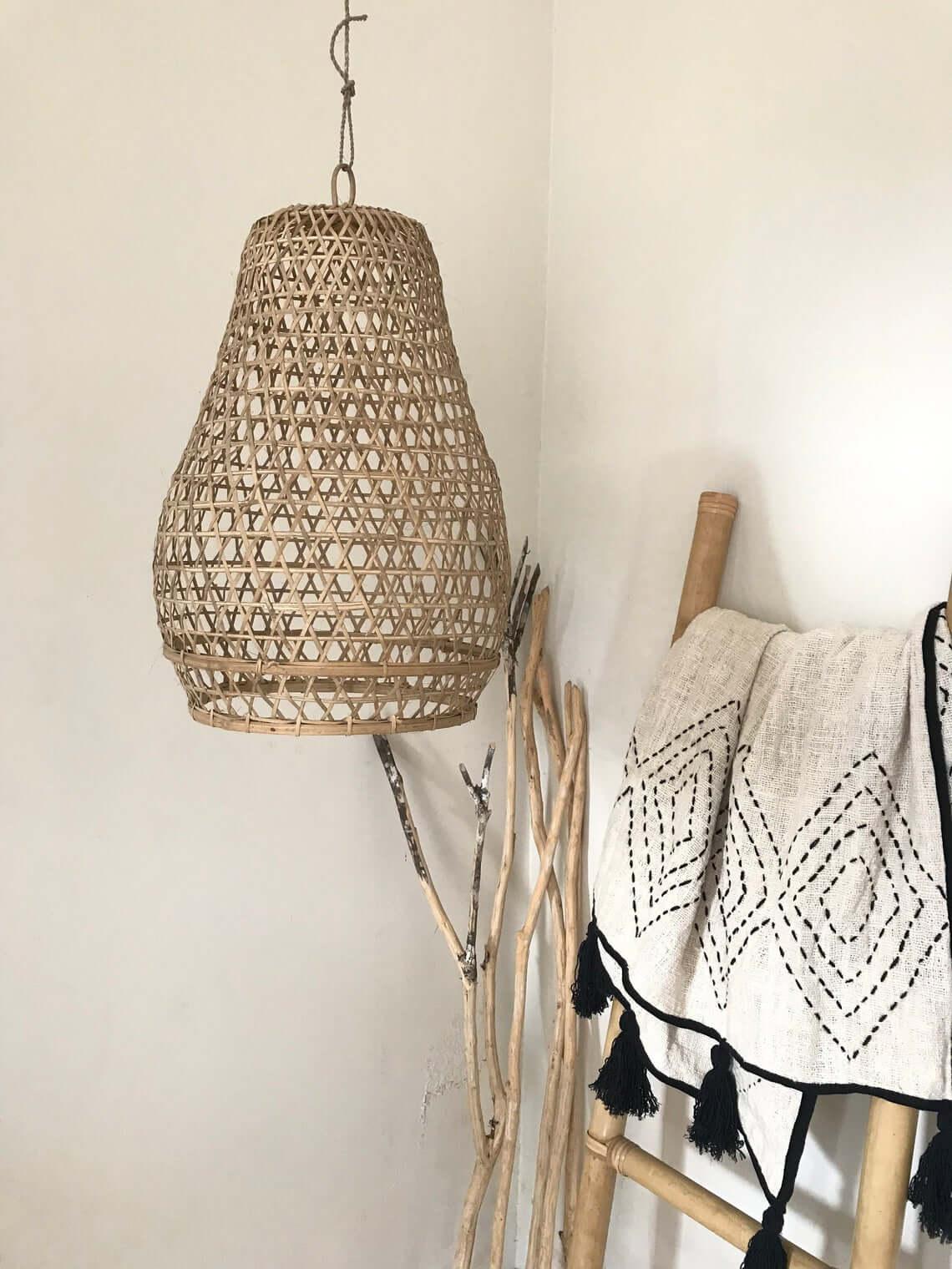 Natural Bamboo Pendant Lamp Shade