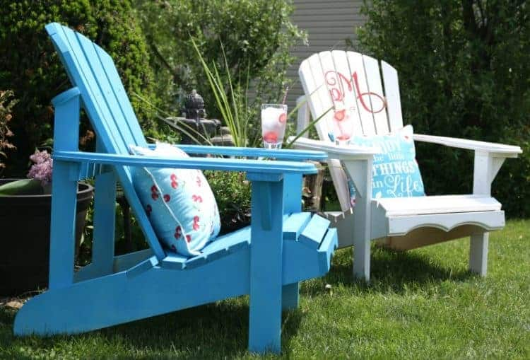 Customized Adirondack Lawn Chair Makeover