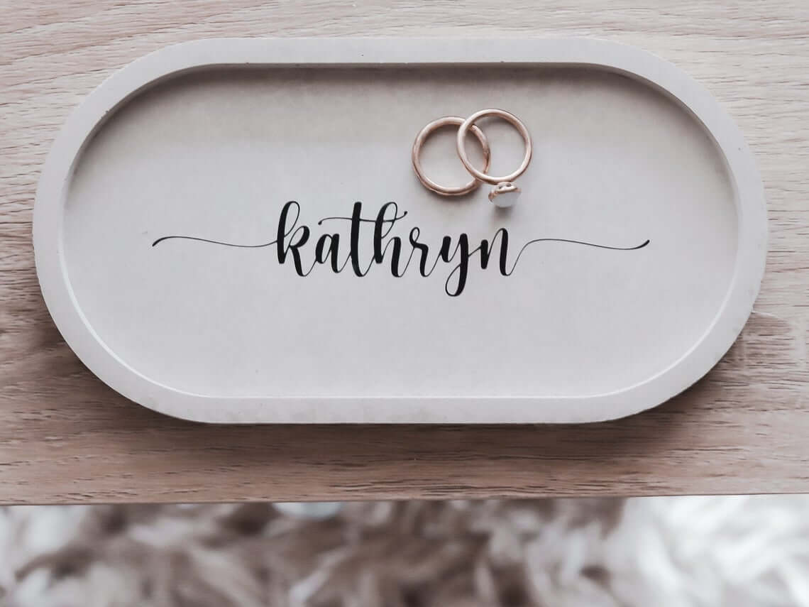 Personalized Trinket Dish for Entryway Decoration