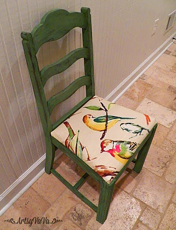 Upholstered Nature Theme Rustic Chair