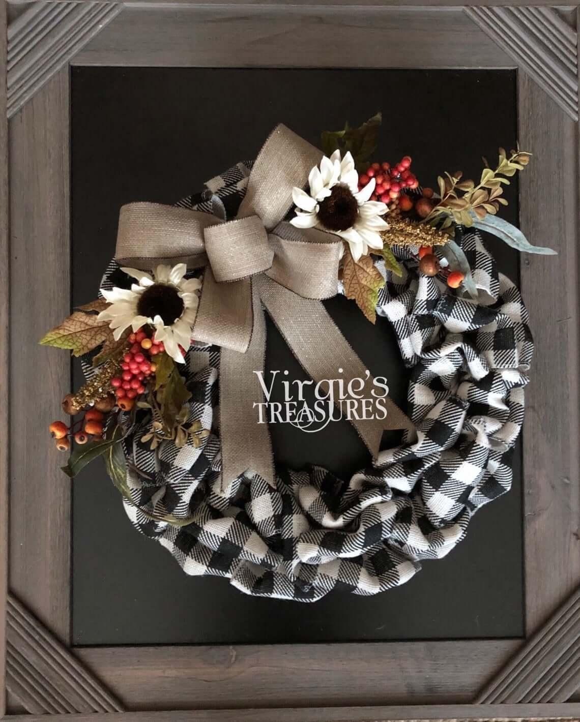 Exquisite Buffalo Plaid Wreath