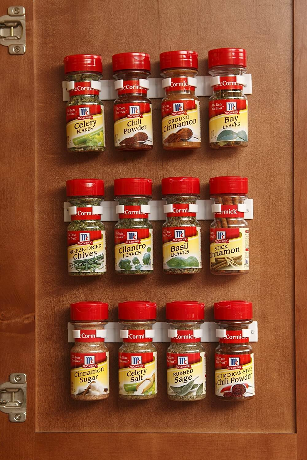 Spice Jar Grip Holder Clip Strips