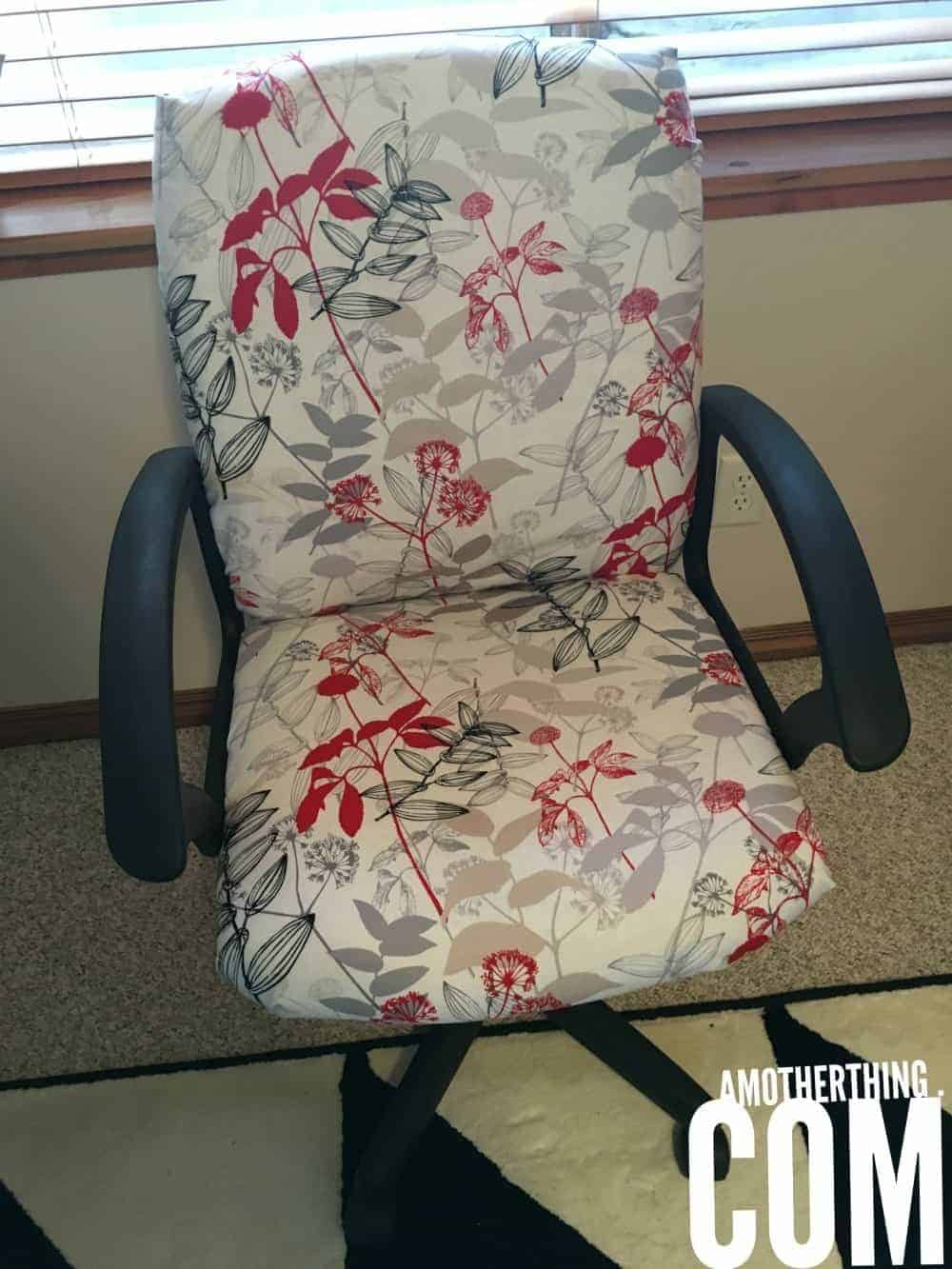 Large Pretty Office Chair Re-Upholstered