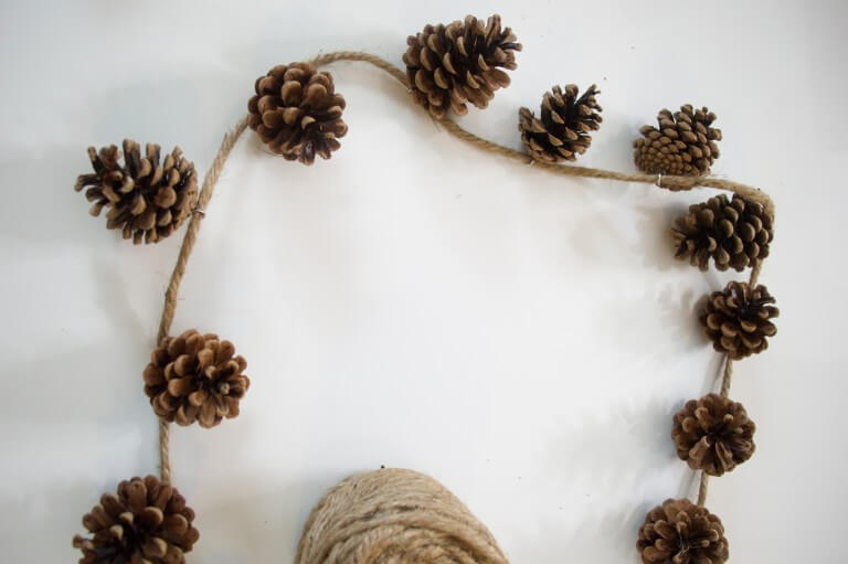 Rustic Pinecone and Twine Fall Garland