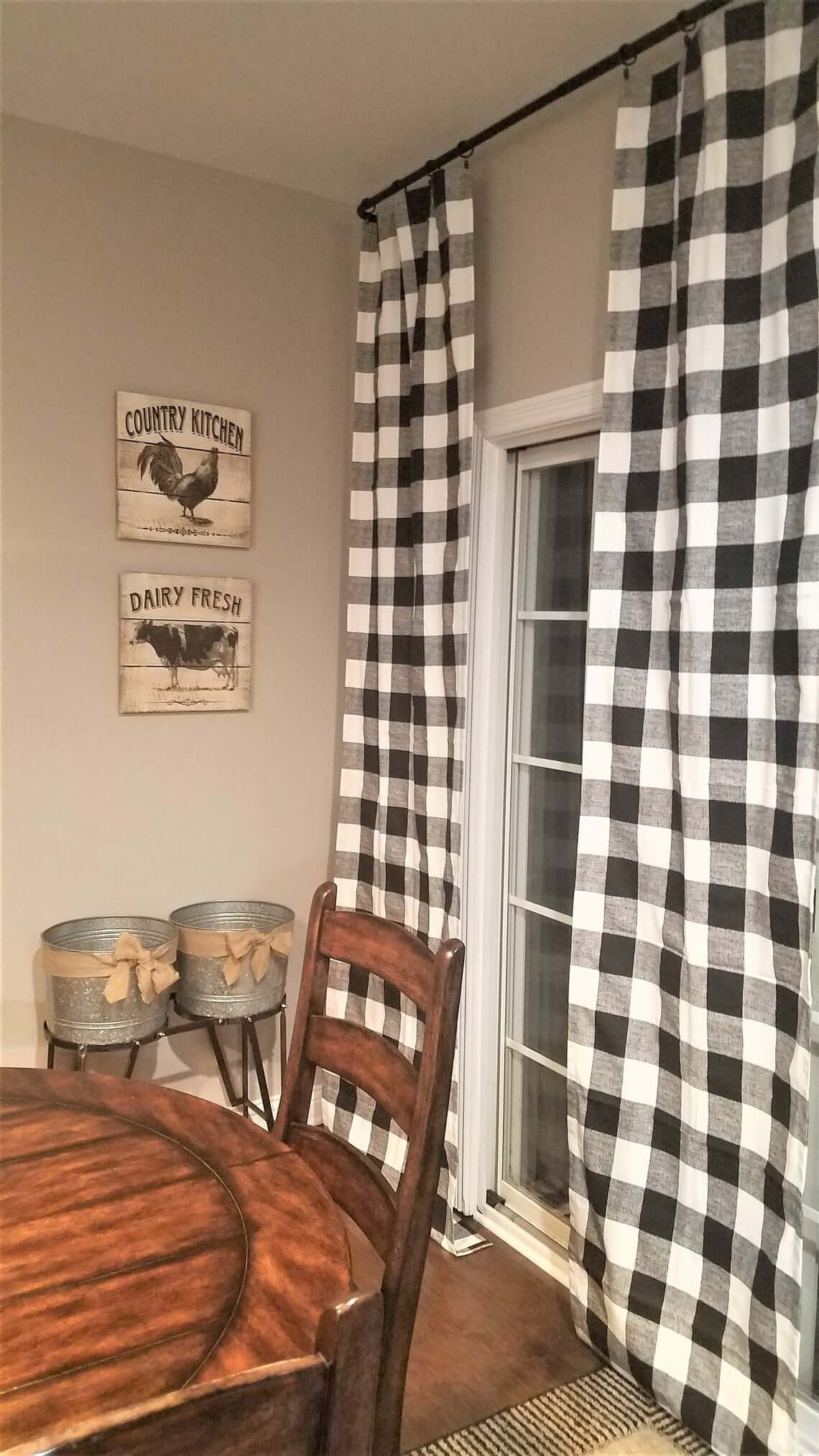 Complementing and Cute Buffalo Check Curtains