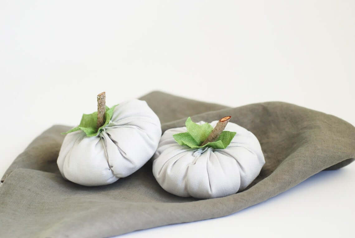 Simplistic and Neutral Wide Fabric Pumpkin