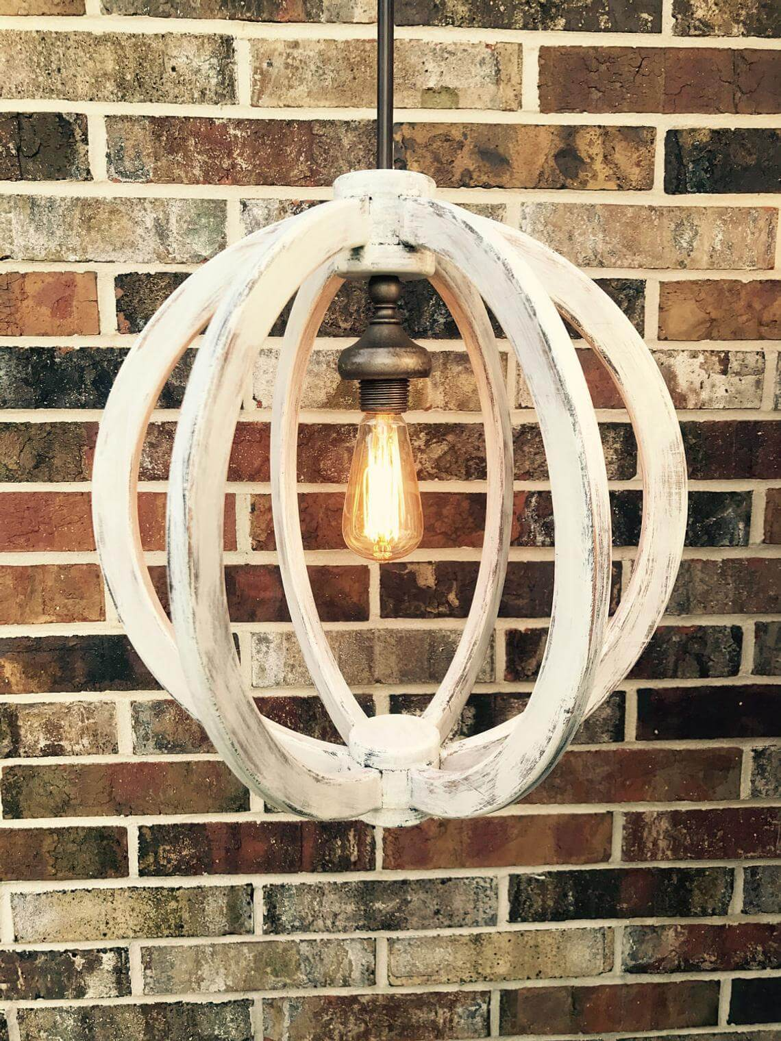 Cool Distressed Wooden Sphere Chandelier