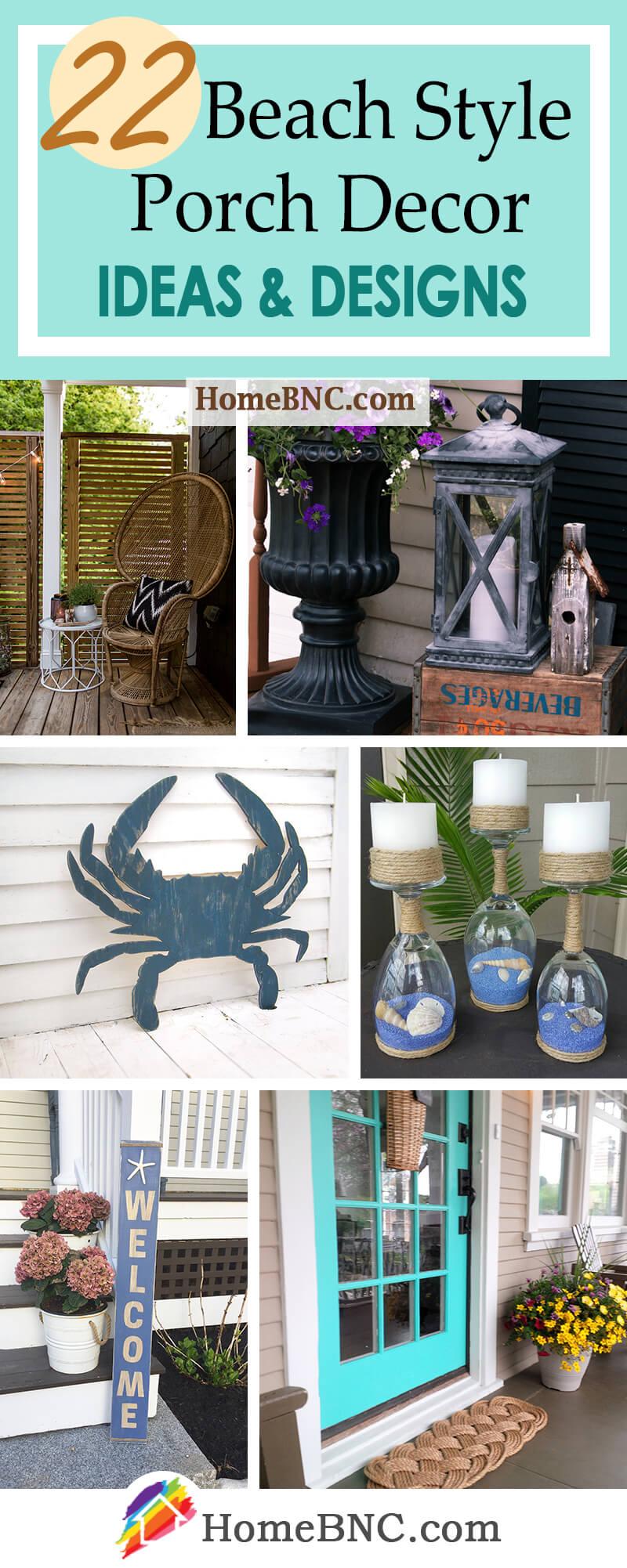 Beach Style Porch Decor Ideas