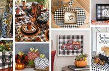 Buffalo Check DIY Fall Decorations