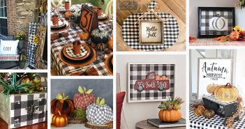 Buffalo Check DIY Fall Decorations